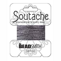 Soutache 3mm - Fb. 1650 - Gunmetal